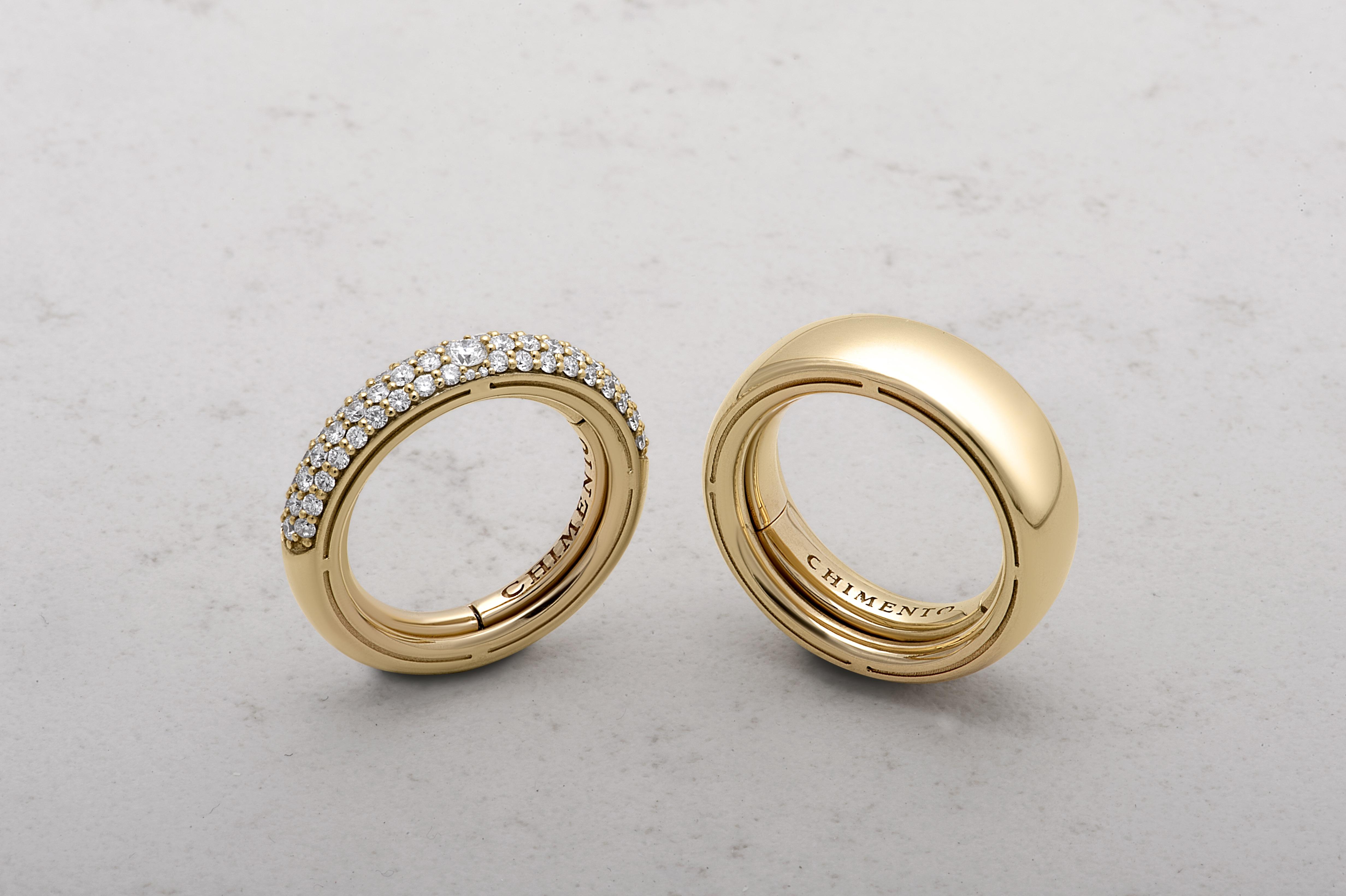 Anelli oro e pavè di diamanti
